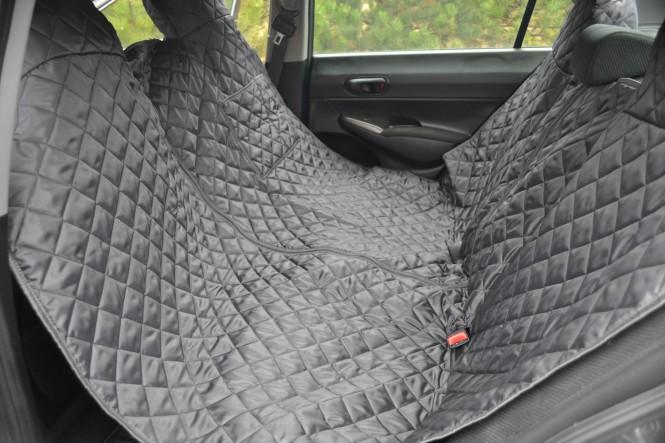 Autoschondecke, Autoschutzdecke, Hundedecke, mit Reißverschluß teilbar, 200 x 140 cm, Graphit