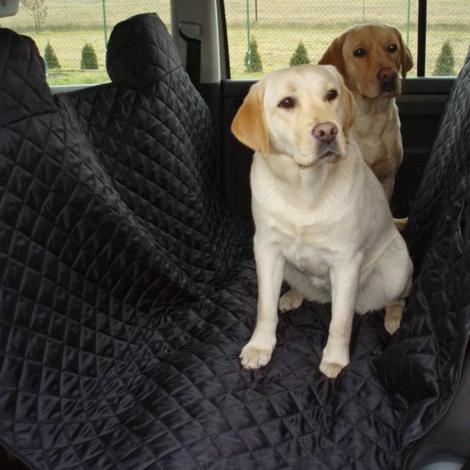 Autoschondecke, Autoschutzdecke, Hundedecke, mit Reißverschluß teilbar, 200 x 140 cm, Schwarz