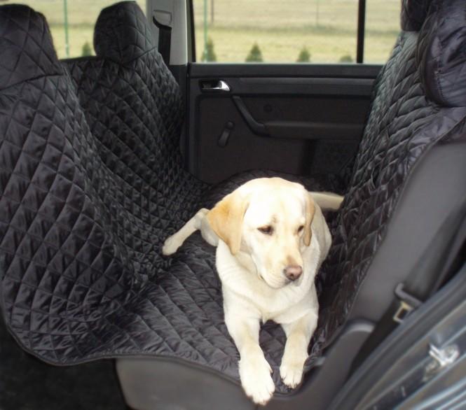 Autoschondecke, Autoschutzdecke, Hundedecke, mit Reißverschluß teilbar, 160 x 140 cm, Schwarz