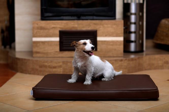 Orthopädische Hundematratze CARLOS VISCO M 80 cm Kunstleder Braun M | Braun
