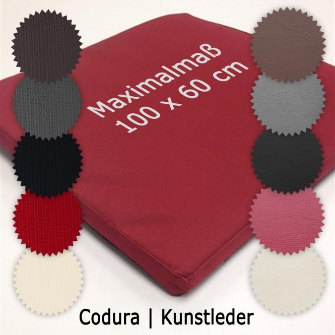 Einlegematte für Hunde-Transportboxen nach Ihren individuellen Maßen (maximal 100 x 60 cm) - Kunstleder | 04 Bordeaux