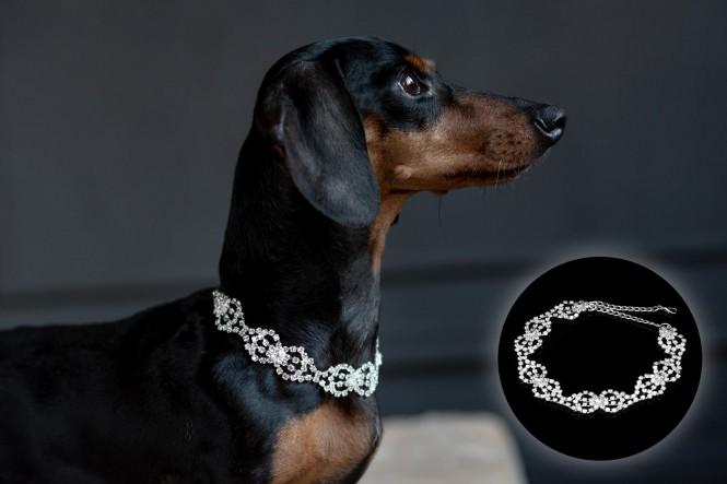 Halskette mit Strass-Steinen | Design 04 Ringe