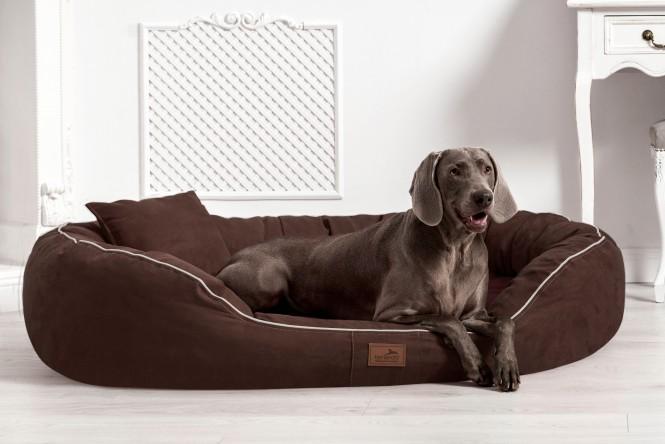 Orthopädisches Hundebett MARLON VISCO PLUS XXL 140 cm Velours Braun - XXL | Braun