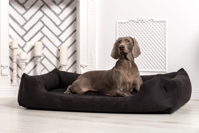 Hundebett MORITZ KOMFORT M+ 90 cm | fest gewebtes Polyester | Schwarz M+ | Schwarz