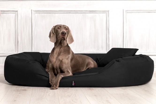 Hundebett SAMMY XXL 140 cm Polyester 600D Schwarz - XXL | Schwarz