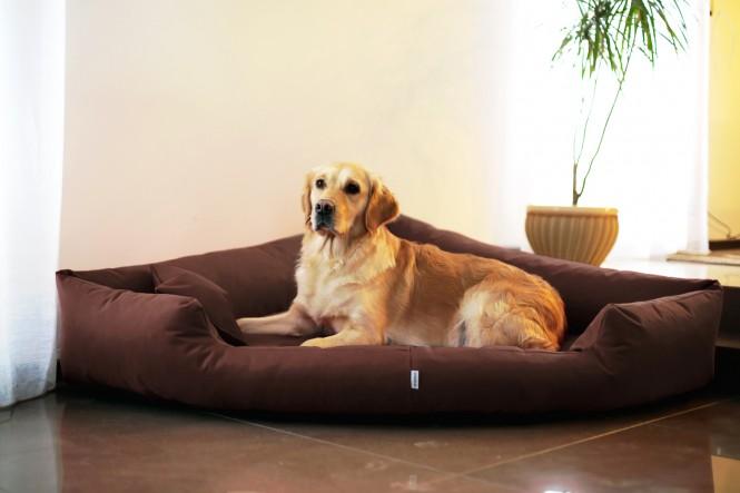 Orthopädisches Hundebett TRIVIA VISCO L 100 cm Polyester 600D Braun - L | Braun