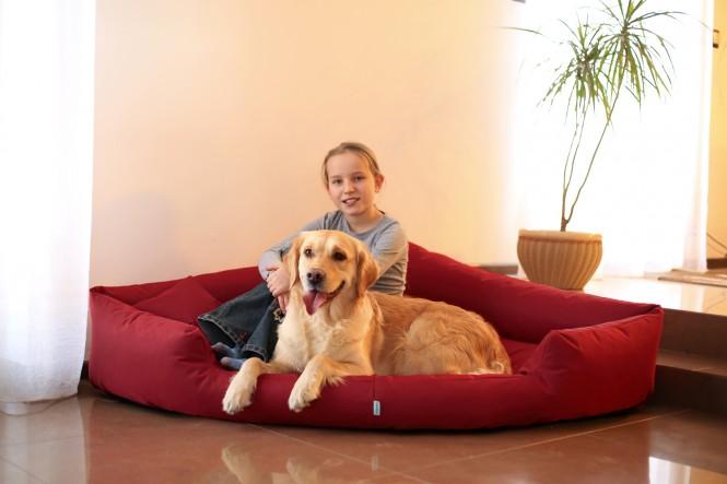 Hundebett TRIVIA XL 120 cm Polyester 600D Bordeaux-Rot - XL | Bordeaux-Rot