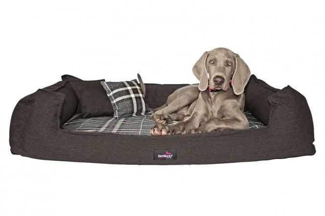 SCOTCH | Orthopädisches Hundebett L+ | Braun Grau