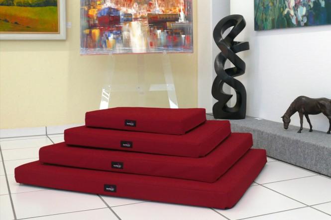 Orthopädische Hundematratze ALICE VISCO M 80 cm Polyester 600D Bordeaux-Rot - M | Bordeaux-Rot