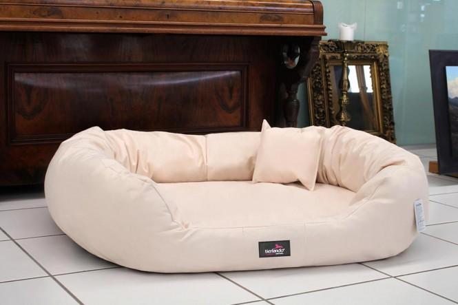 Orthopädisches Hundebett ARES VISCO XL 110 cm Polyester 600D Creme XL | Creme