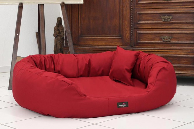 Orthopädisches Hundebett ARES VISCO XXL 145 cm Polyester 600D Bordeaux-Rot XXL   Bordeaux-Rot