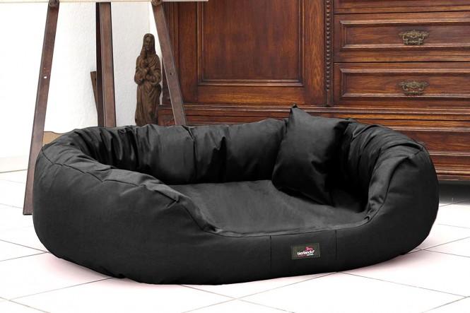 Hundebett ARES KOMFORT XL 110 cm Polyester 600D Schwarz XL | Schwarz