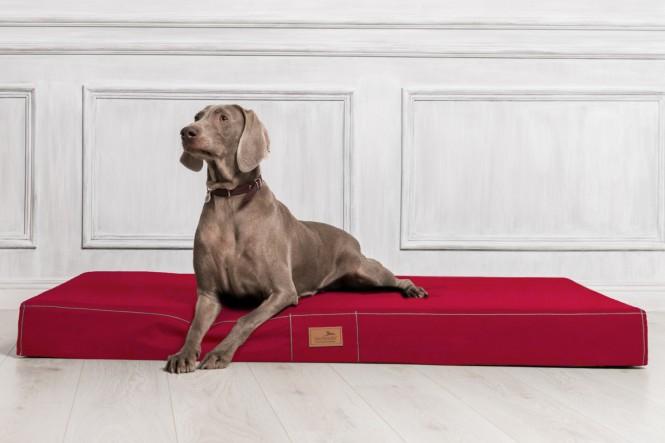 Hundematratze HUGO BASIC M 80 cm Polyester 210D Bordeaux-Rot M | Bordeaux-Rot