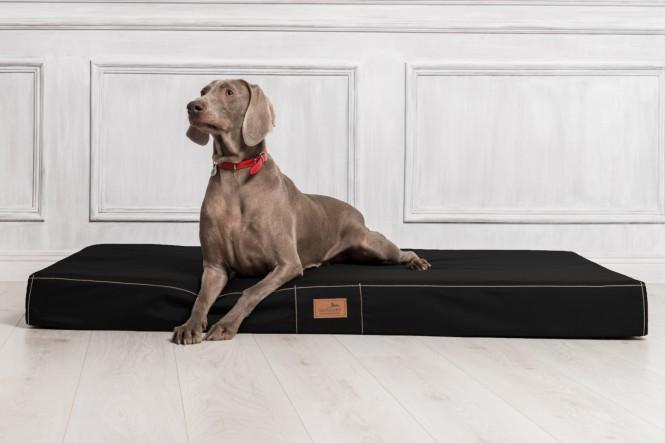 Hundematratze HUGO BASIC M 80 cm Polyester 210D Schwarz M | Schwarz