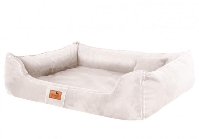 Orthopädisches Hundebett MADDOX VISCO Soft Line L 100 cm Velours 05 Creme Beige L | Creme