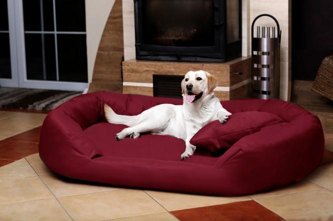 Orthopädisches Hundebett SAMMY VISCO L 100 cm Polyester 600D Bordeaux-Rot L | Bordeaux-Rot