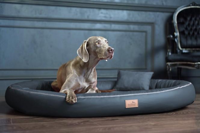 Weiche orthopädische Premium-Hundematratze GILBERT<br>Anti-Haar XXL 150 cm Kunstleder | 02 Graphit - XXL | Graphit