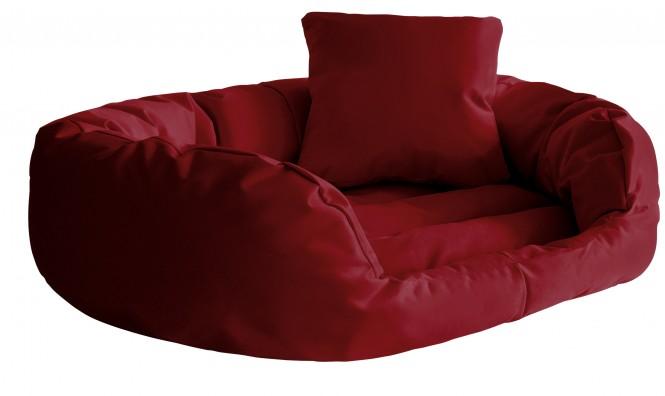 Hundebett SAMMY L 100 cm Polyester 600D Bordeaux-Rot L   Bordeaux-Rot