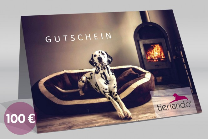 tierlando 100-EUR-Geschenkgutschein für Hundebetten und mehr