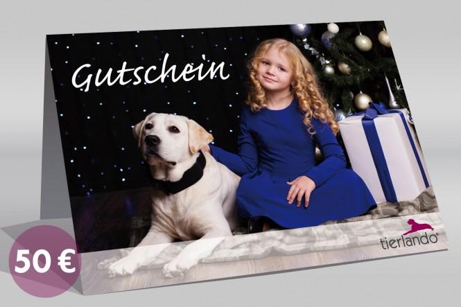 tierlando 50-EUR-Geschenkgutschein für Hundebetten und mehr