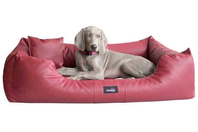 MILEN | Orthopädisches Hundebett M+ | Bordeaux-Rot