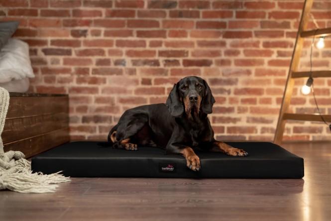 ALICE EASY CLEAN | Orthopädische Hundematratze - XL | Schwarz