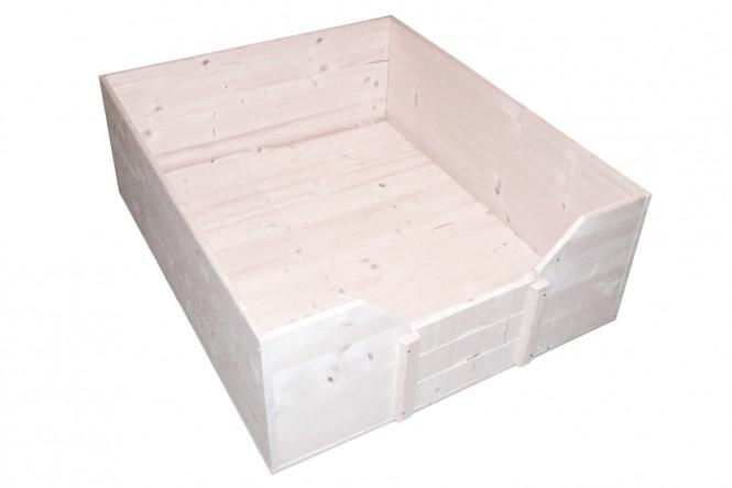Welpen-Wurfbox/Wurfkiste aus Holz 120 x 100 cm