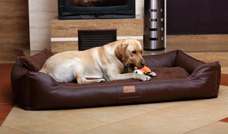 hundebett maddox xxl 150 cm kunstleder velours braun. Black Bedroom Furniture Sets. Home Design Ideas