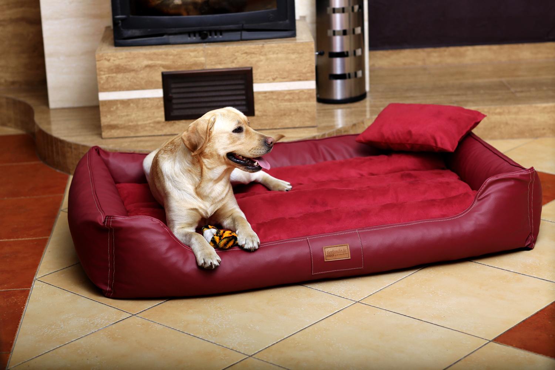 hundebett maddox xxl 150 cm kunstleder velours bordeaux rot tierlando. Black Bedroom Furniture Sets. Home Design Ideas