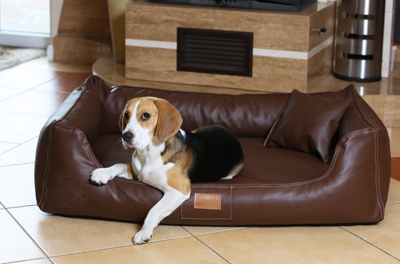 orthop disches hundebett maddox visco xl 120 cm kunstleder. Black Bedroom Furniture Sets. Home Design Ideas