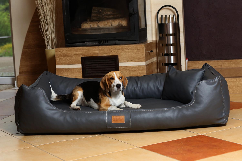 hundebett maddox komfort xxl 150 cm kunstleder graphit. Black Bedroom Furniture Sets. Home Design Ideas