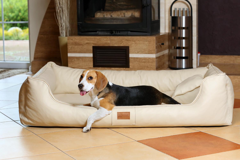 hundebett maddox komfort xxl 150 cm kunstleder creme. Black Bedroom Furniture Sets. Home Design Ideas