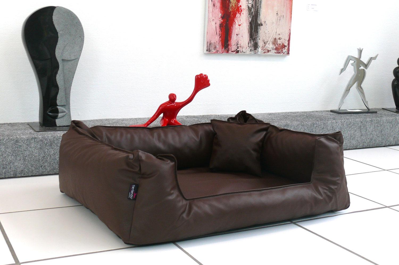 orthop disches hundebett goofy visco m 90 cm kunstleder. Black Bedroom Furniture Sets. Home Design Ideas