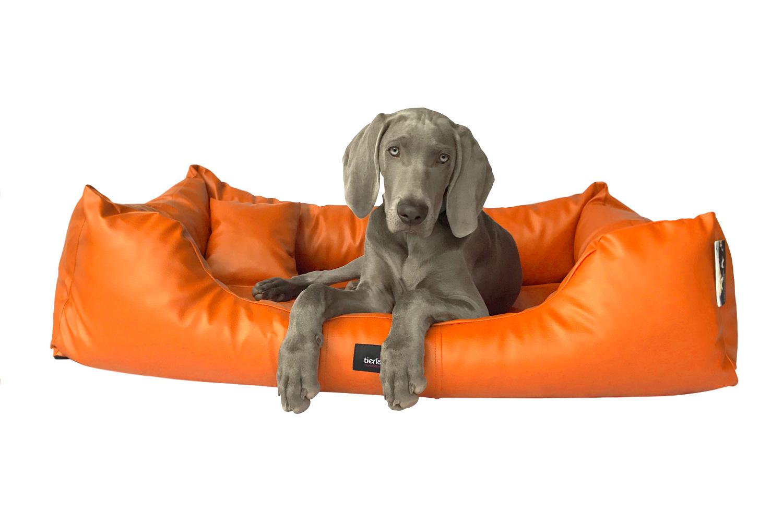 hundebett milen xl 130 cm komplett kunstleder orange. Black Bedroom Furniture Sets. Home Design Ideas