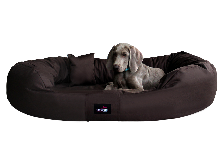 hundebett ares xxl 140 cm polyester 600d braun tierlando. Black Bedroom Furniture Sets. Home Design Ideas