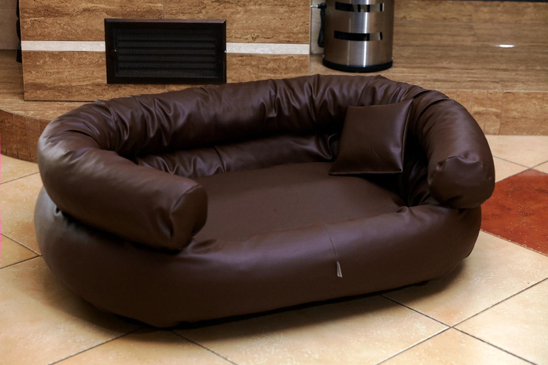 hundebett jeffrey l 100 cm kunstleder schwarz tierlando. Black Bedroom Furniture Sets. Home Design Ideas