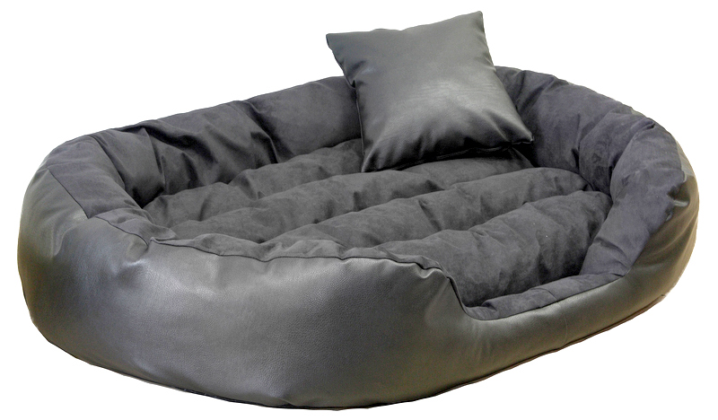hundebett philip xxl 140 cm kunstleder velours creme tierlando. Black Bedroom Furniture Sets. Home Design Ideas