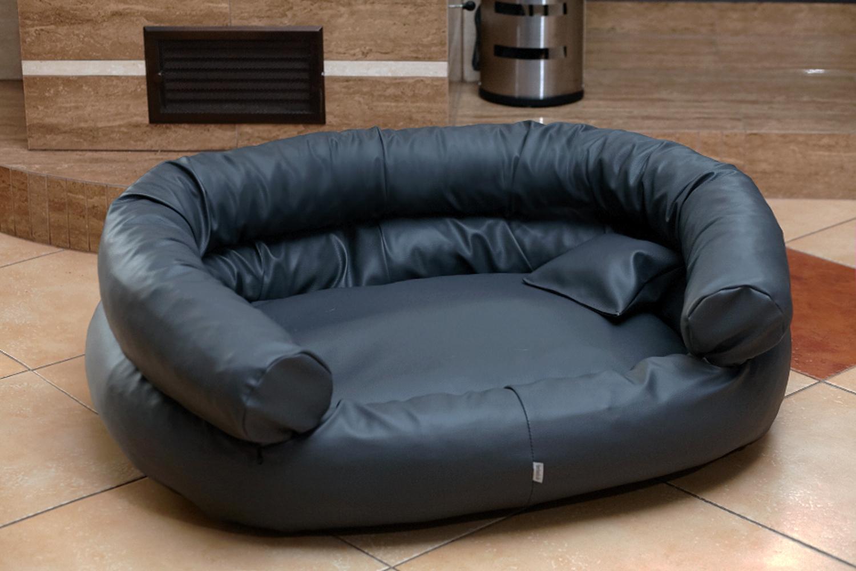 hundebett jeffrey xxl 150 cm kunstleder schwarz tierlando. Black Bedroom Furniture Sets. Home Design Ideas