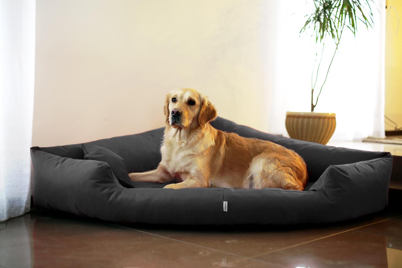 Hundebett TRIVIA XL 120 cm Polyester 600D Schwarz   tierlando®