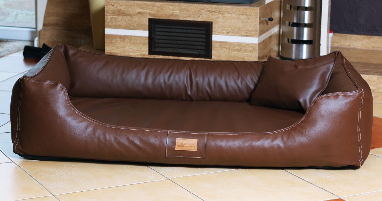 hundebett maddox komfort xxl 150 cm kunstleder braun. Black Bedroom Furniture Sets. Home Design Ideas