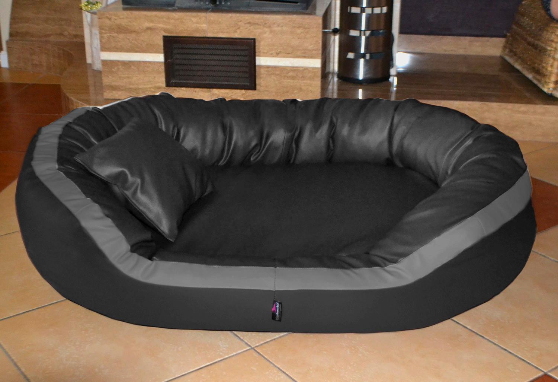 orthop disches hundebett pepper xl 135 cm kunstleder. Black Bedroom Furniture Sets. Home Design Ideas