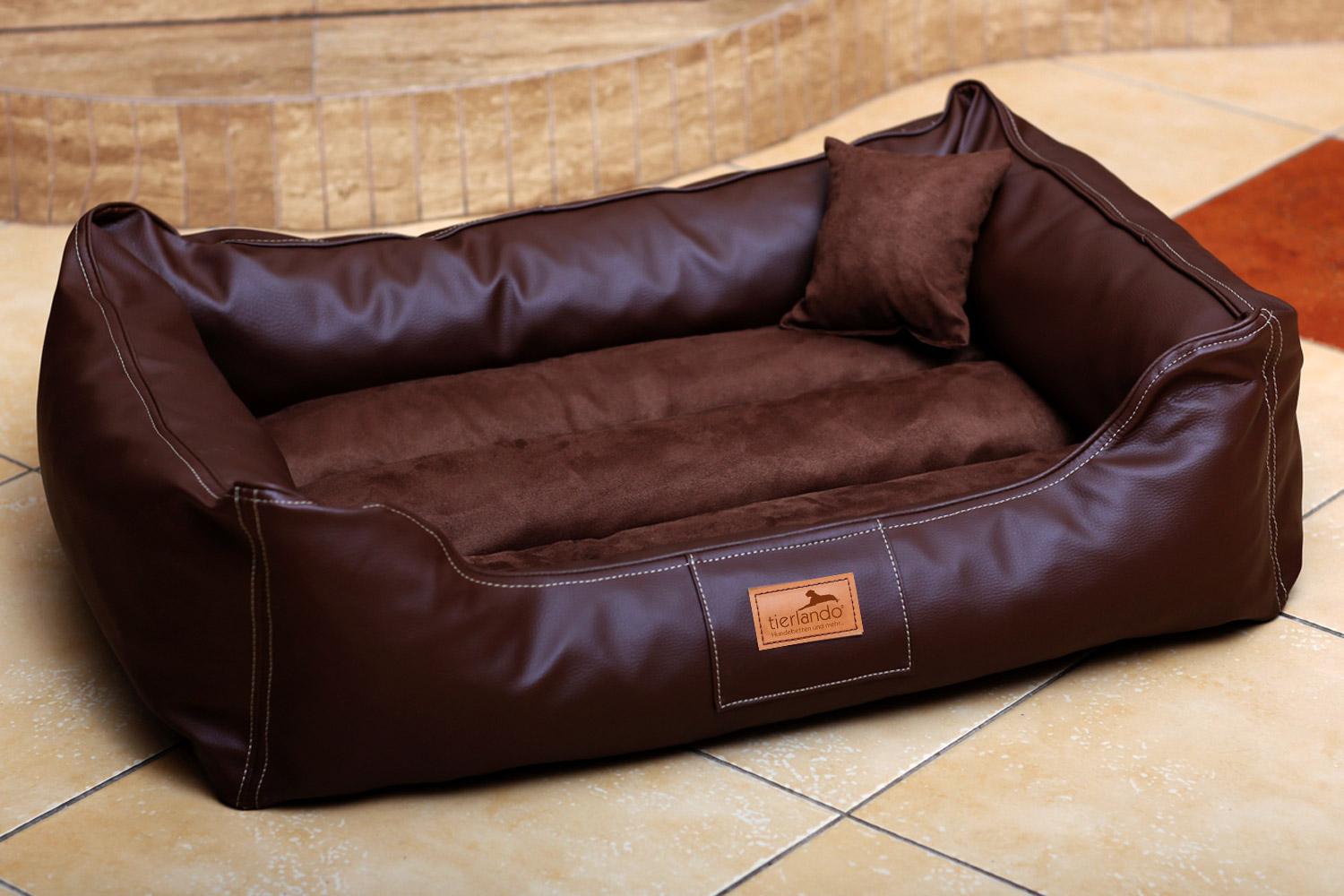 maddox vip lit pour chien par tierlando canap velours cuir s xxl 70 150cm ebay. Black Bedroom Furniture Sets. Home Design Ideas