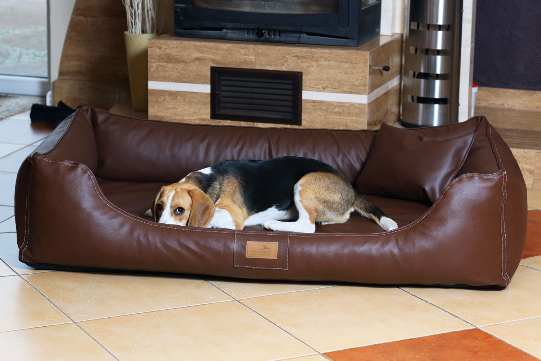 maddox ortho visco hundebett von tierlando kunstleder. Black Bedroom Furniture Sets. Home Design Ideas